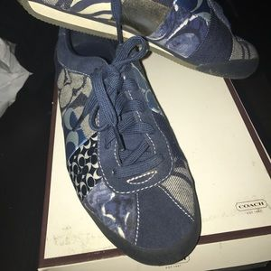 Coach denim sneakers